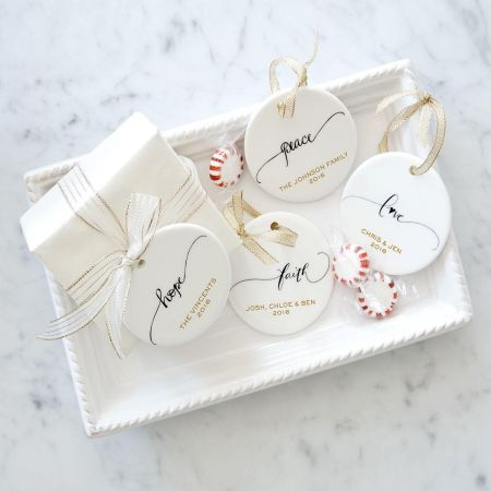 Faith Round Christmas Personalized Ornaments