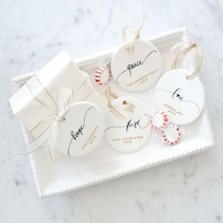 Hope Round Christmas Personalized Ornaments