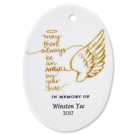 May There Always Oval Personalized Memorial Christmas Ornament