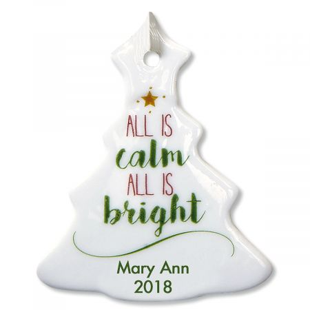 All Is Calm Tree Personalized Ornaments