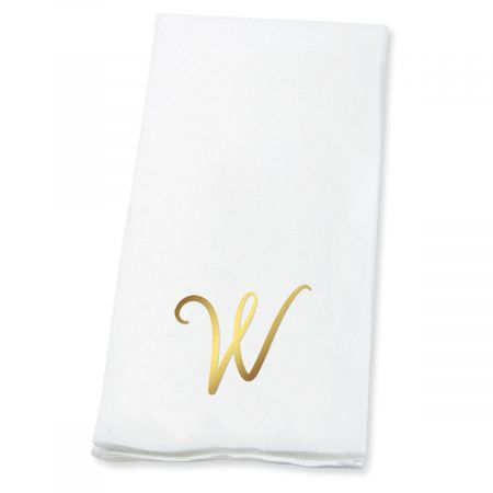 Script Initial Foil-Stamped Disposable Hand Towels