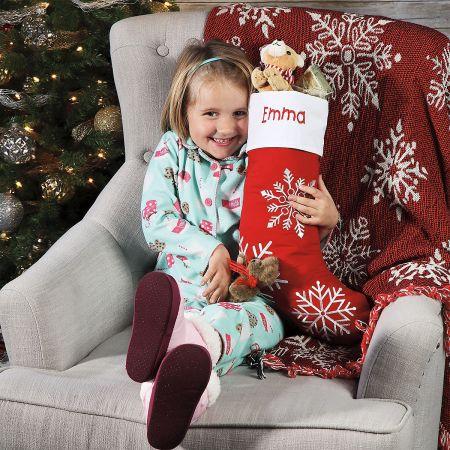 Snowflake Personalized Christmas Stocking