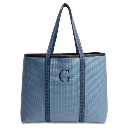 Large Merle Blue Tote Bag
