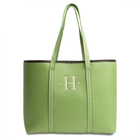 Large Merle Green Tote Bag