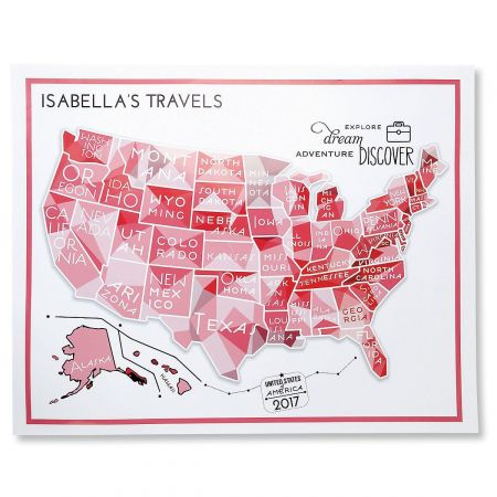Pink Travel Map