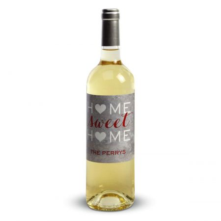 Home Sweet Home Personalized Wine Label