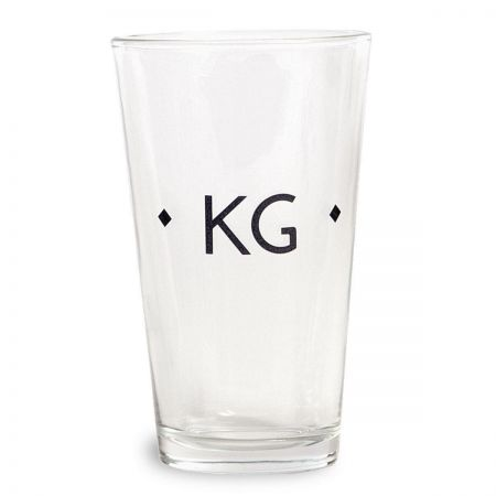 Diamond Initials Pint Glass