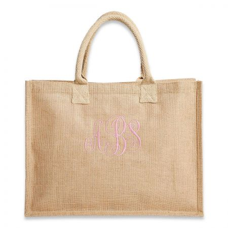 Personalized Large Jute Market Bag