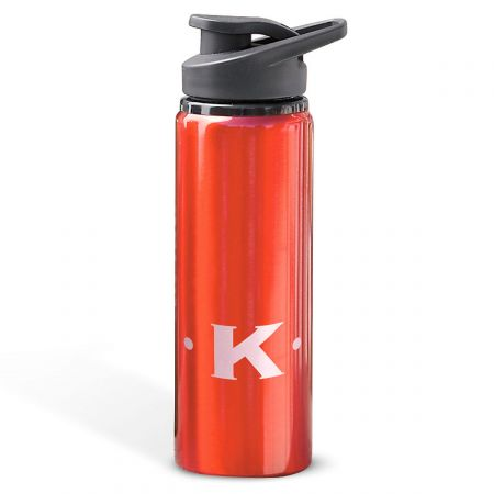 Aluminum Water Bottles with Initial-Red-816396F