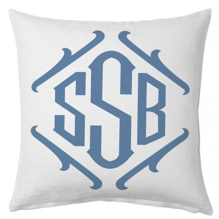 Framed Monogrammed Beach Personalized Pillow