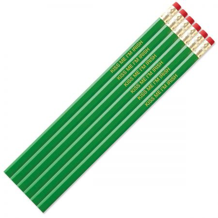#2 Personalized Hardwood Pencils - Bright Green