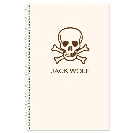 Skull & Crossbones Personalized Notebook