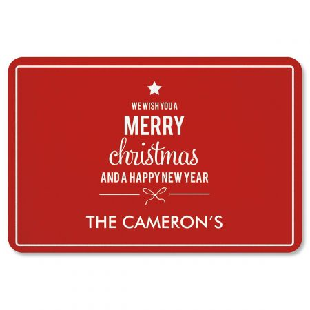 We Wish You Christmas Personalized Doormat