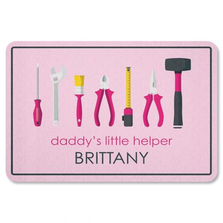 Daddy's Little Girl Helper Personalized Garage Floormat