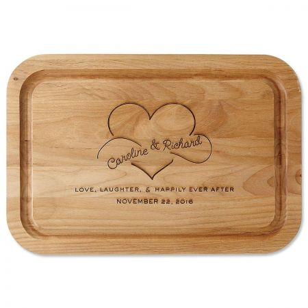 Happily Ever After Personalized Wood Cutting Board