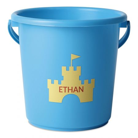 Personalized Beach Bucket-Blue-816451C