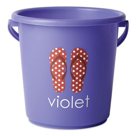 Personalized Beach Bucket-Purple-816451F