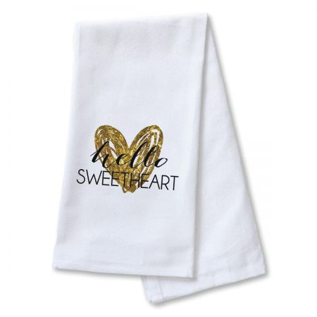 Hello Sweetheart Dish Towel