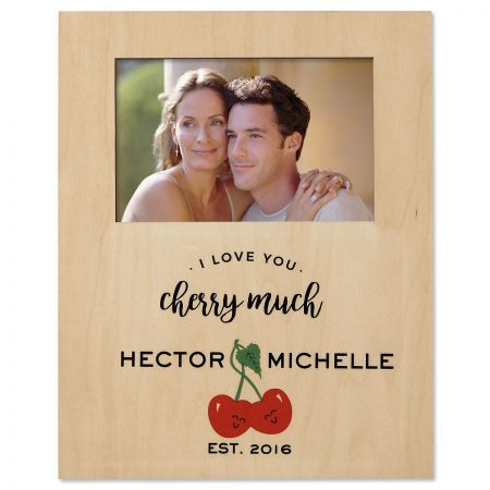 I Love You Cherry Much Personalized Frame