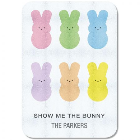 Show Me The Bunny Personalized Glass Cutting Board
