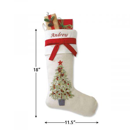 Christmas Tree Personalized Christmas Stocking