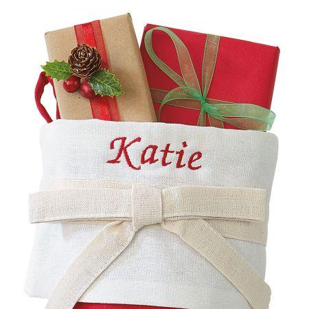Christmas Wreath Personalized Christmas Stocking