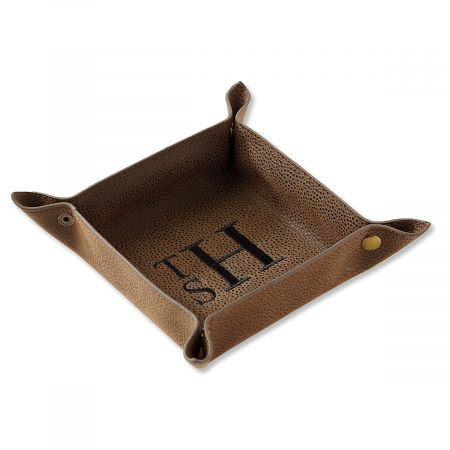 Brown Personalized Valet Tray