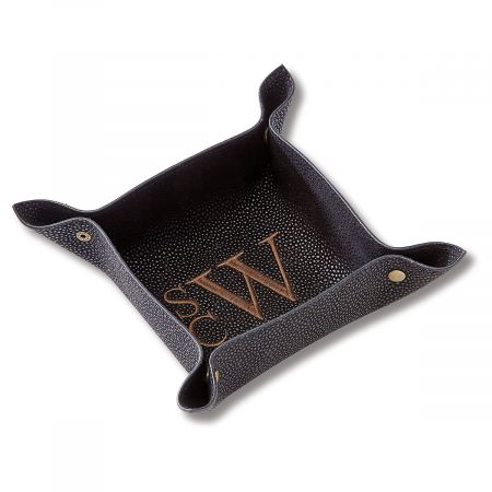 Black Personalized Valet Tray