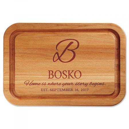 Home is Where Your Story Begins Personalized Wood Cutting Board