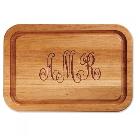 Script Monogram Personalized Wood Cutting Board