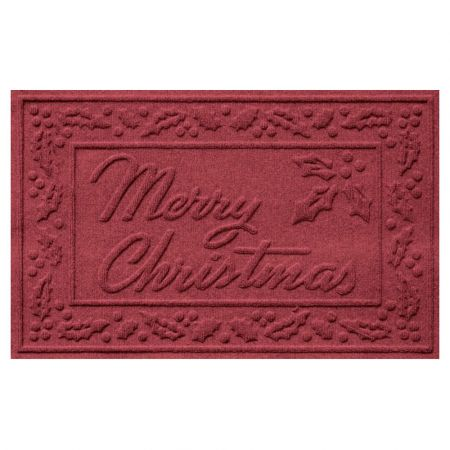 Merry Christmas Doormat - Red/Black - 816712A