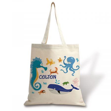 Personalized Under The Sea Canvas Tote
