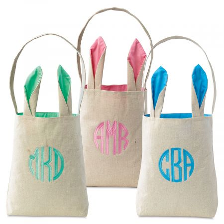 Personalized Easter Totes with Ears