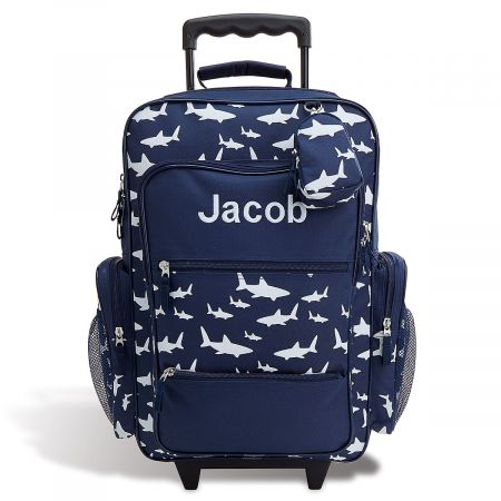 "Personalized Shark 23"" Rolling Luggage"