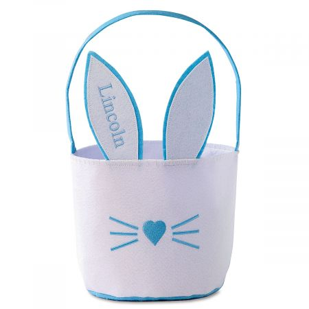 Personalized Bunny Ears Easter Baskets