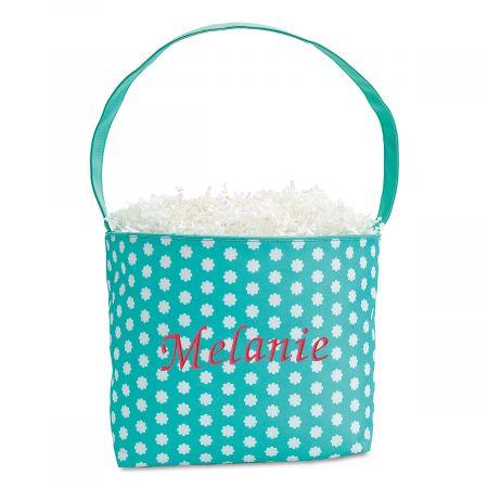 Monogrammed Fabric Easter Buckets | Lillian Vernon
