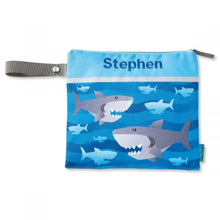 Personalized Shark Wet/Dry Bag by Stephen Joseph®
