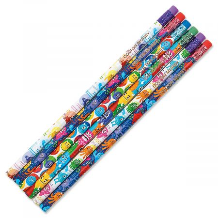 Monster Personalized Pencils