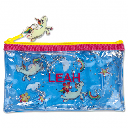 Personalized Unicorn Liquid Pencil Case