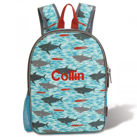 Personalized Sharks Backpack from Petit Collage®