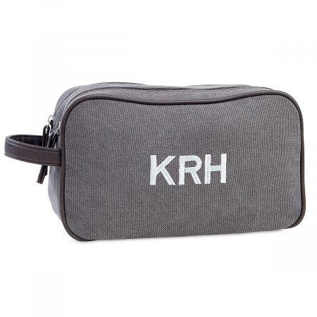 Customized Man-Style Dark Grey Toiletry Bag