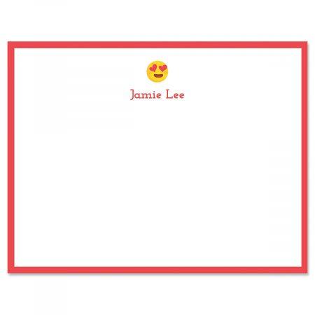 Red Heart Eye Emoji Correspondence Cards