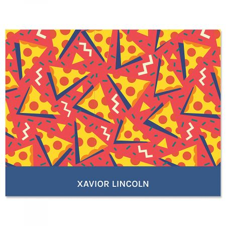 Retro Red Pizza Note Cards