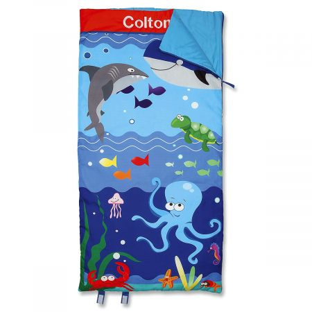 Personalized Under the Sea Sleeping Bag