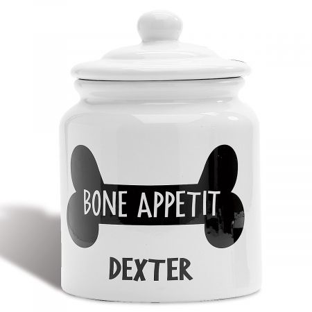 Personalized Bone Appetit Dog Treat Jar