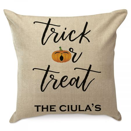 Trick or Treat Personalized Pillow