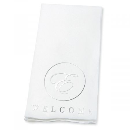 Personalized Welcome Circle Initial Disposable Hand Towel