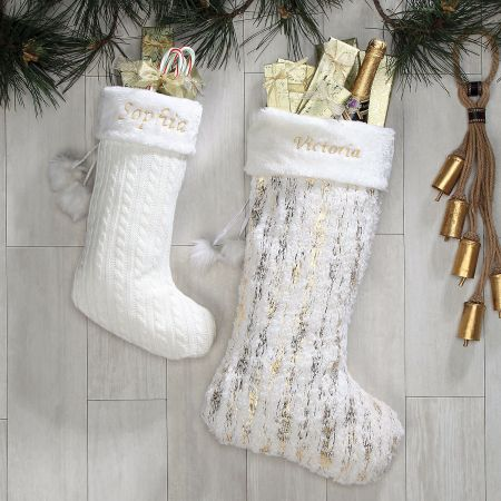 Personalized Elegant Cable Knit Stocking