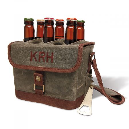 Personalized Beer Caddy Cooler Tote