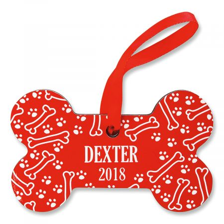Personalized Dog Bone Christmas Ornament